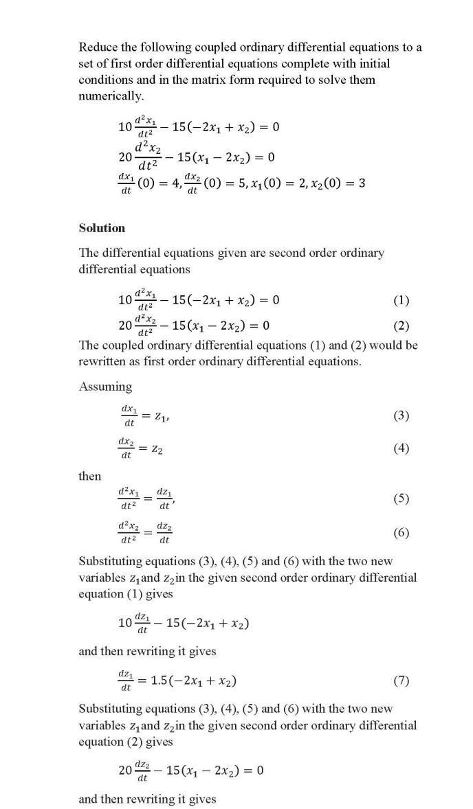 Ordinary Differential Equations – The Numerical Methods Guy